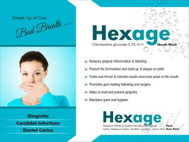 HEXAGE MOUTH WASH - Allenge India